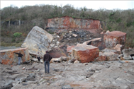 Major Rockfall at Oxwich Bay Quarry, Gower