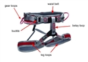 Harnesses for climbers and mountaineers