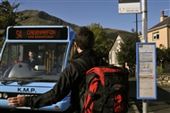 On board buses in Snowdonia and Yorkshire