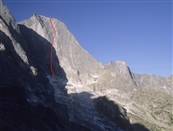 First solo of legendary route on northeast face of Piz Badile