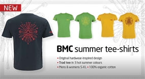 Stay cool at the crag this summer with the new BMC trad tee-shirts