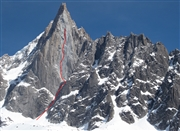 Spanish make valiant attempt on the West Face of the Dru