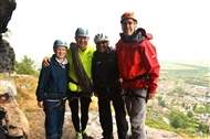 MPs scale Helsby cliff to promote benefits of outdoor recreation