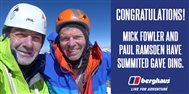 Another Himalayan first ascent for Mick Fowler and Paul Ramsden