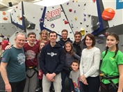MPs showcase bouldering as a fun and healthy family activity