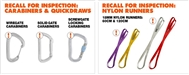 Black Diamond recall carabiners and slings