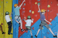 Please help keep the Rock Court climbing wall open