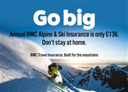Go big: discounts on annual BMC Alpine and Ski insurance