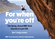 For when you're off: discounts on BMC annual Rock travel insurance