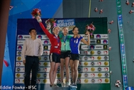 Silver for Shauna in second round of Bouldering World Cup
