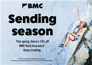 15% off annual BMC Rock Travel Insurance in Europe