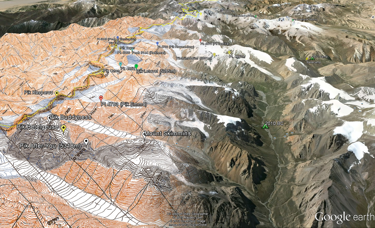 Using Free Online Mapping For Expedition Planning - Us topo maps for google earth