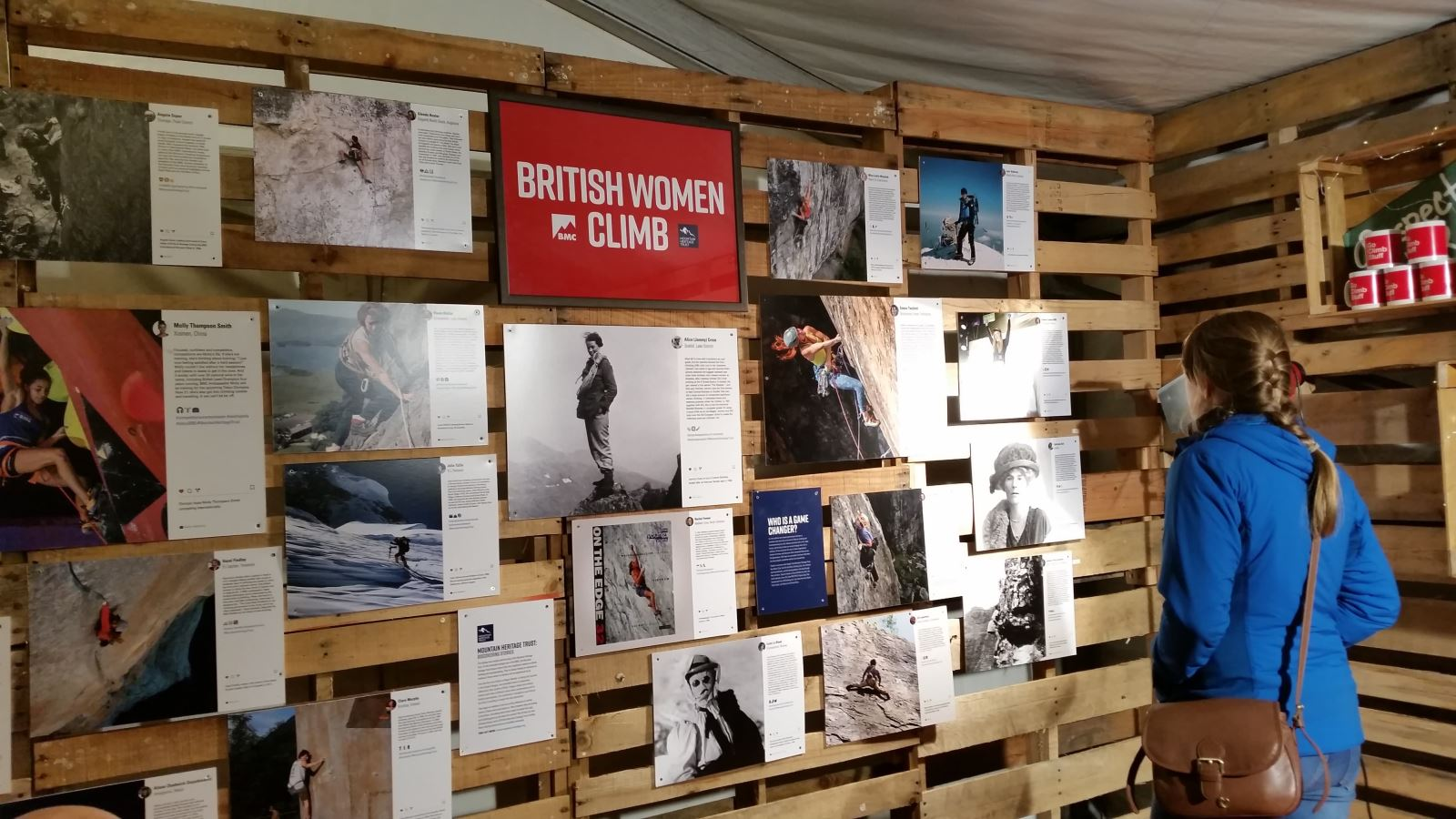 British Women Climb exhibition at Kendal Mountain Festival 2018